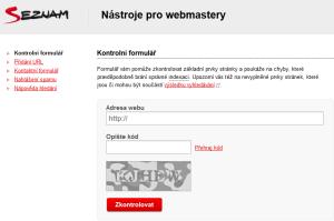 nástroje pro webmastery kontaktní formulář seznam.cz