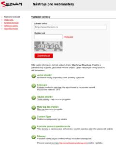 nástroje pro webmastery kontaktní formulář seznam.cz 2