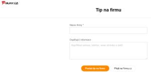 Přidání odkazu do katalogu firem Firmy.cz